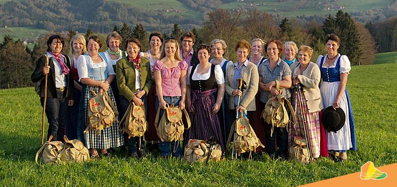 Die Gastgeberinnen der Wanderhöfe Samerberg